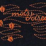 Tee shirt brodé, Mots d'oiseaux, marque bretonne